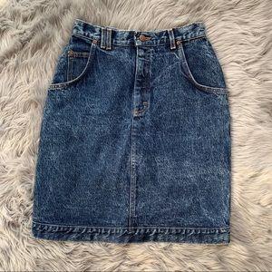 Vintage LEE Stonewash Denim Skirt